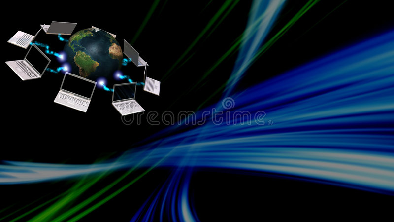 Communication concept with abstract background stock illustration