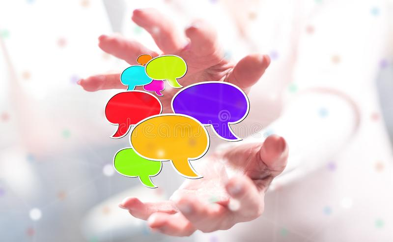 Concept of communication royalty free stock photo