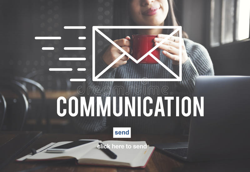 Communication Connection Correspondence Email Concept stock images