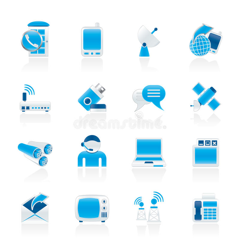 Download Communication, Connection And Technology Icons Stock Vector - Image: 22041764