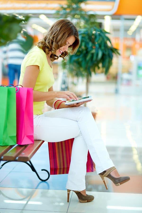 Communication d'achats image libre de droits