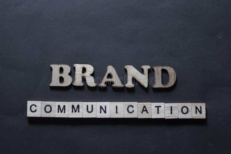 Communication de marque Concept de commercialisation de typographie de mots d'affaires photos stock