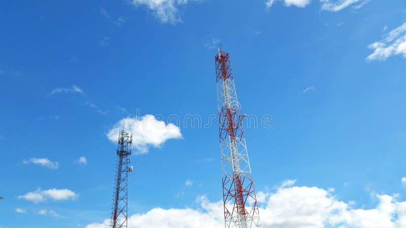 Communication de poteau de téléphone images libres de droits