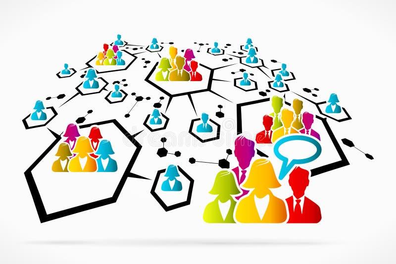 Communication de réseau illustration de vecteur