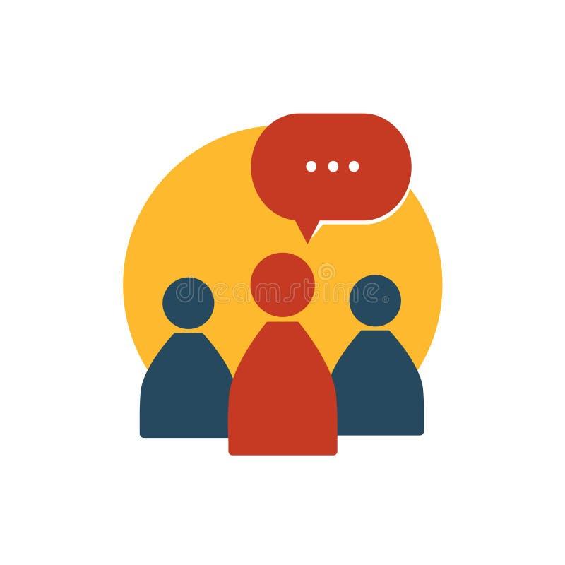 Communication de vecteur de gestion d'entreprise ensemble illustration libre de droits