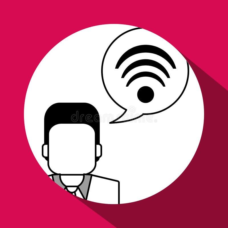 Communication design. Media icon. Flat illustration, grap. Communication concept with icon design, illustration 10 eps graphic vector illustration
