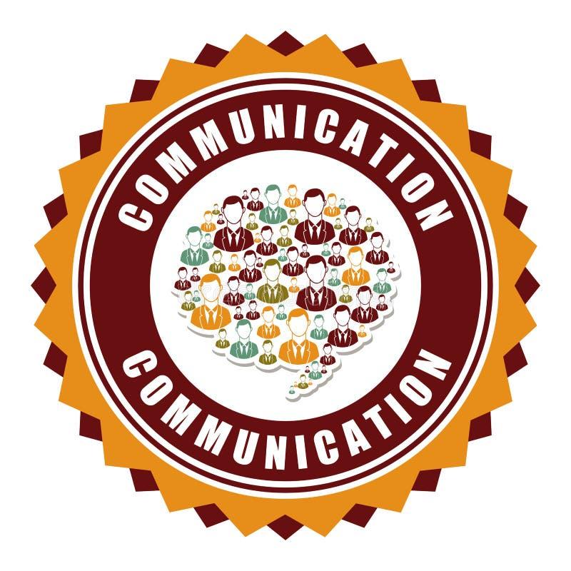 Communication design. Over white background vector illustration vector illustration
