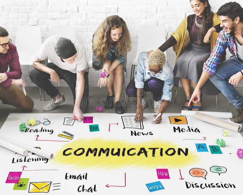 Communication Discussion Team Work Ideas Concept royalty free stock photos