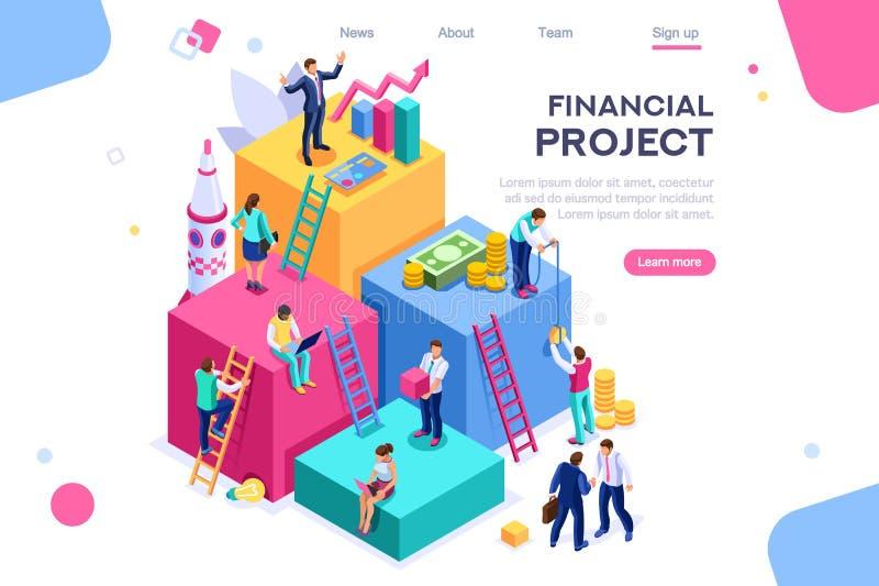 Communication Economy Project Money Investment royalty free illustration