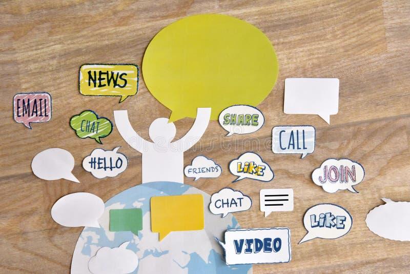 Communication en ligne images stock