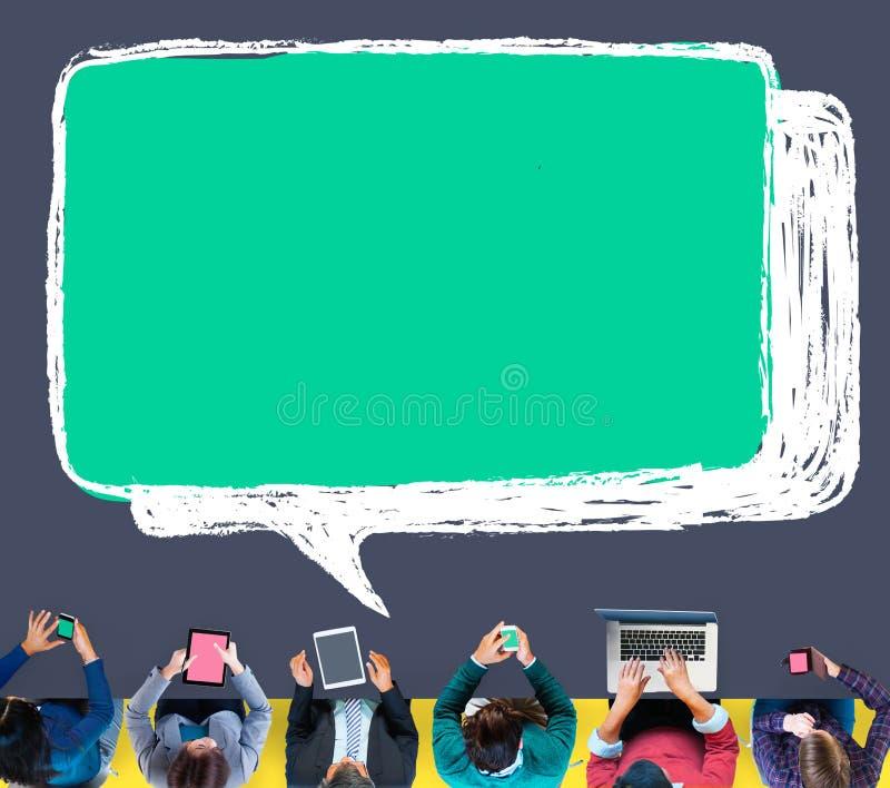 Communication en ligne de technologie du sans fil d'Internet de dispositif de Digital illustration de vecteur