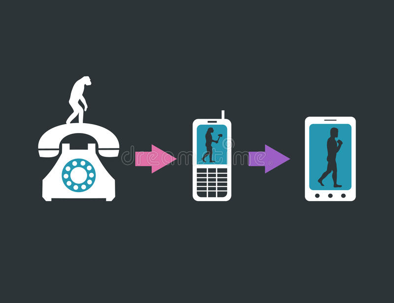Communication evolution stock vector. Illustration of