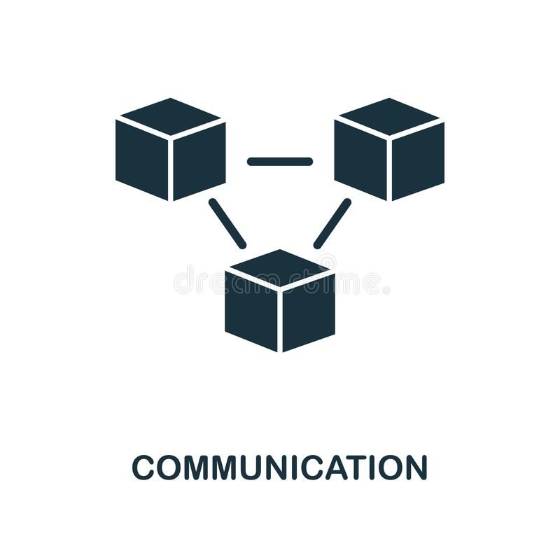 Communication icon. Monochrome style design from machine learning icon collection. UI and UX. Pixel perfect communication icon. Fo stock illustration