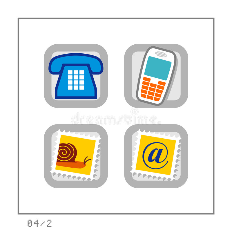 COMMUNICATION: Icon Set 04 - Version 2 stock illustration