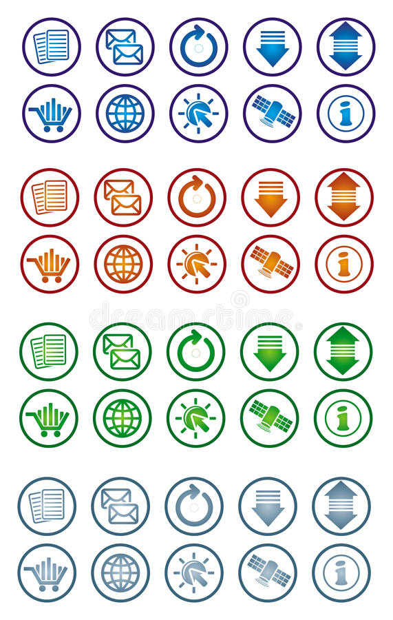 Download Communication icon set stock vector. Illustration of email - 15350594