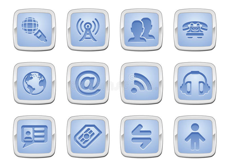 Communication Icon Set Stock Photo