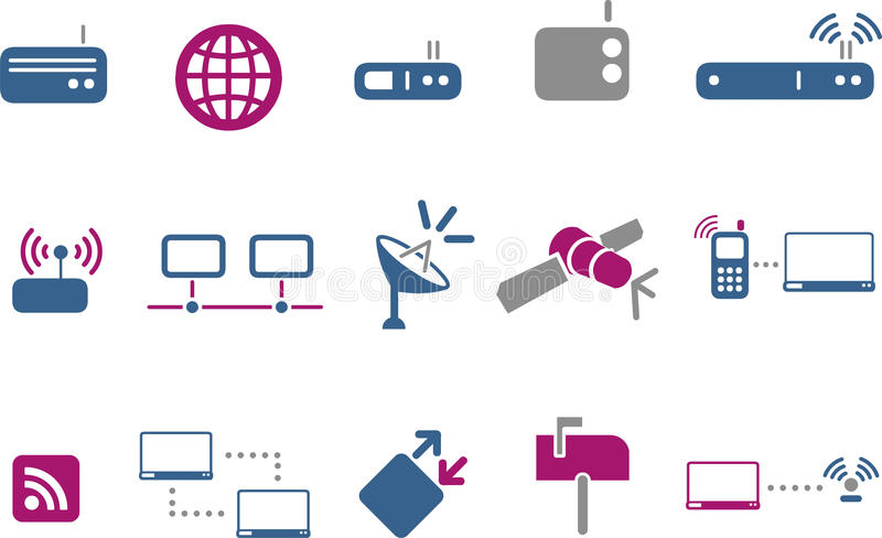 Download Communication Icon Set stock vector. Illustration of feed - 9854130
