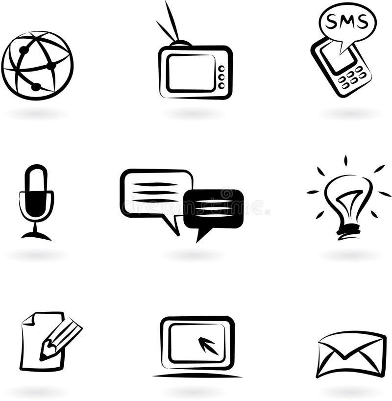 Download Communication icons 1 stock illustration. Image of digital - 14418416