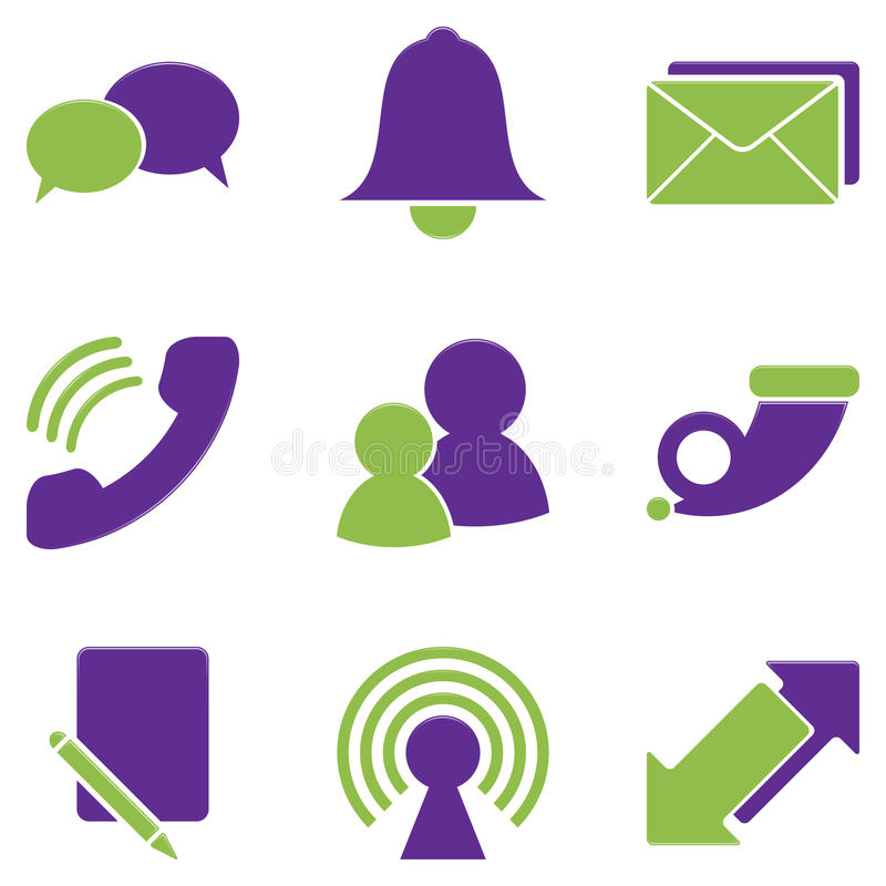 Download Communication icons stock vector. Illustration of media - 12000025
