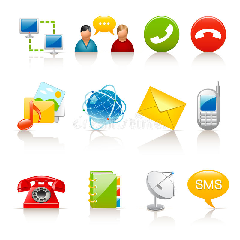 Download Communication icons stock vector. Image of communication - 13932225