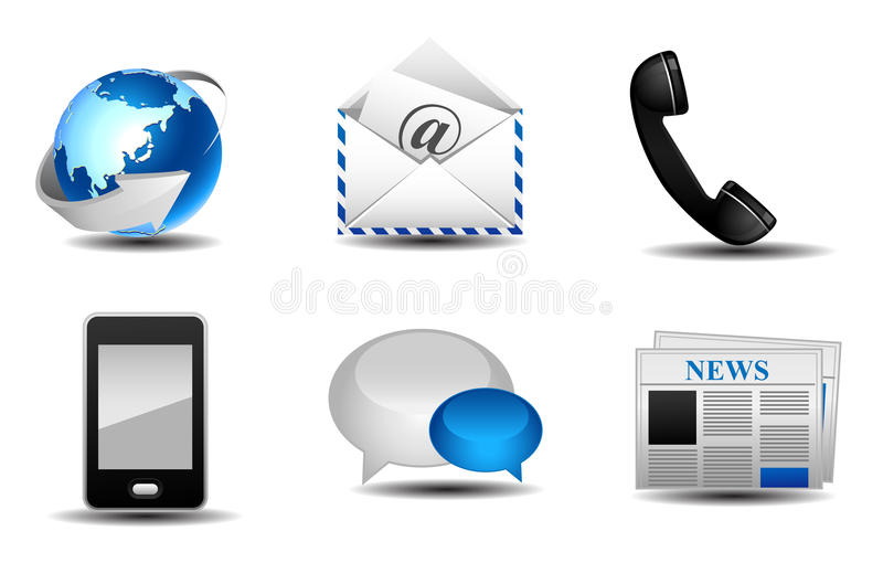 Download Communication icons stock illustration. Illustration of connection - 25588621