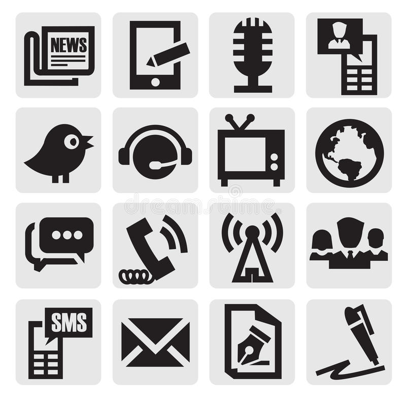 Download Communication icons stock vector. Illustration of icon - 26664221