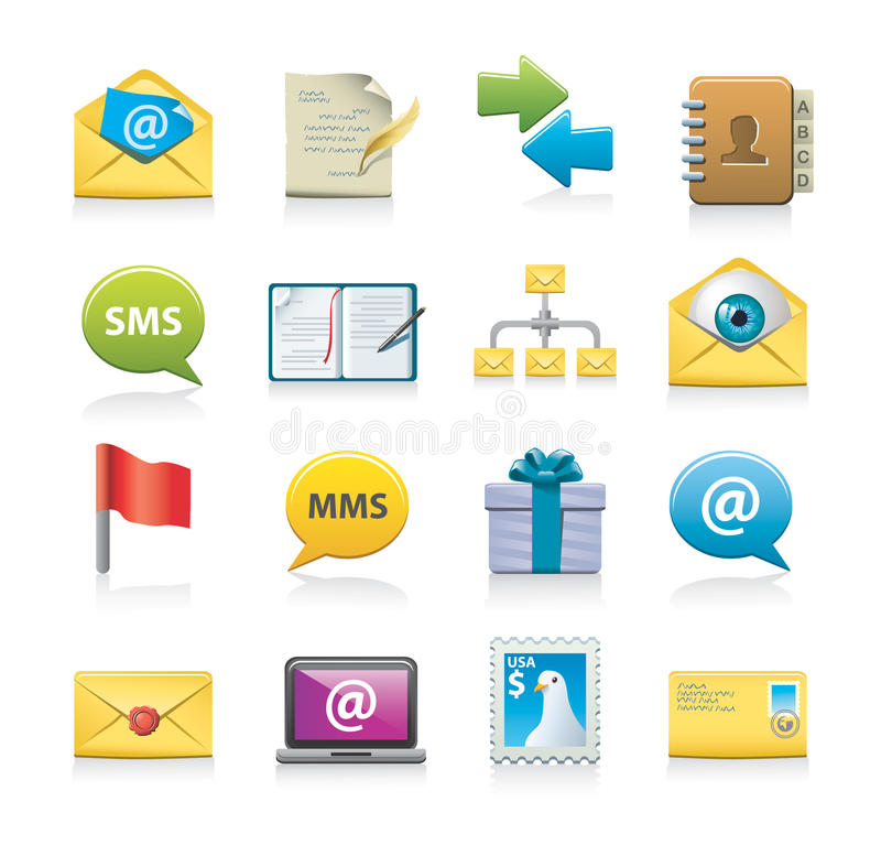 Download Communication icons stock vector. Illustration of writing - 26708776