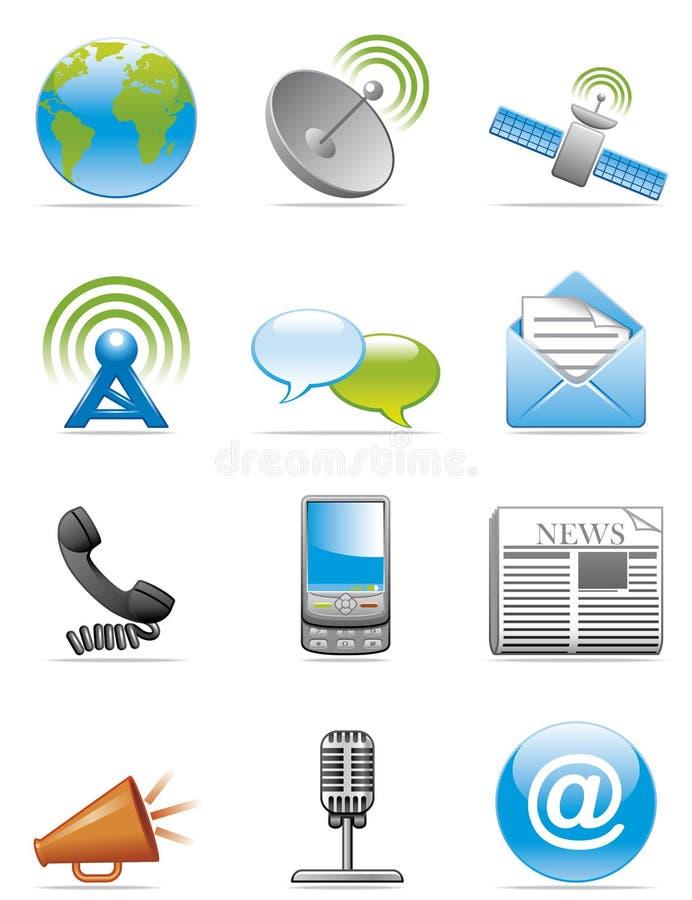 Communication icons vector illustration
