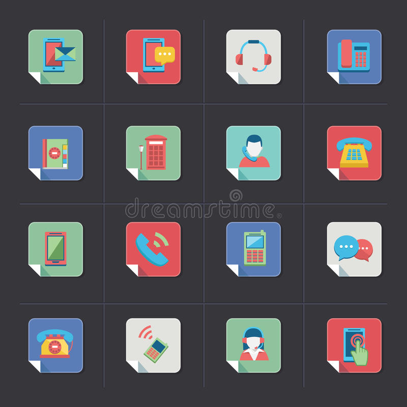 Download Communication Icons stock vector. Illustration of communication - 34655725