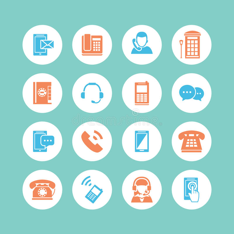 Download Communication Icons stock vector. Image of office, business - 34655744