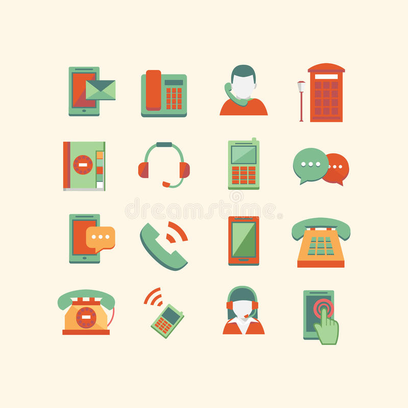Download Communication Icons stock vector. Illustration of gadget - 34655761