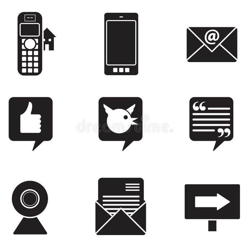 Download Communication Icons Royalty Free Stock Photos - Image: 30597988