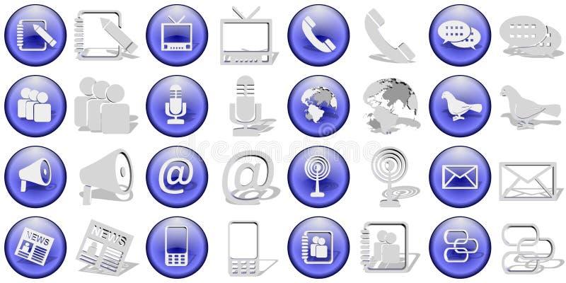 Download Communication icons set stock illustration. Illustration of pencil - 23256265