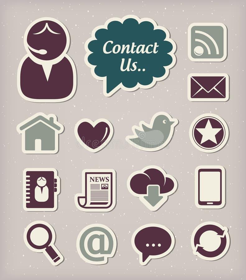 Download Communication icons set stock illustration. Image of mail - 29084641