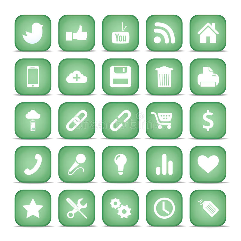 Download Communication Icons. Web Set Internet Collection. Stock Vector - Image: 29815268