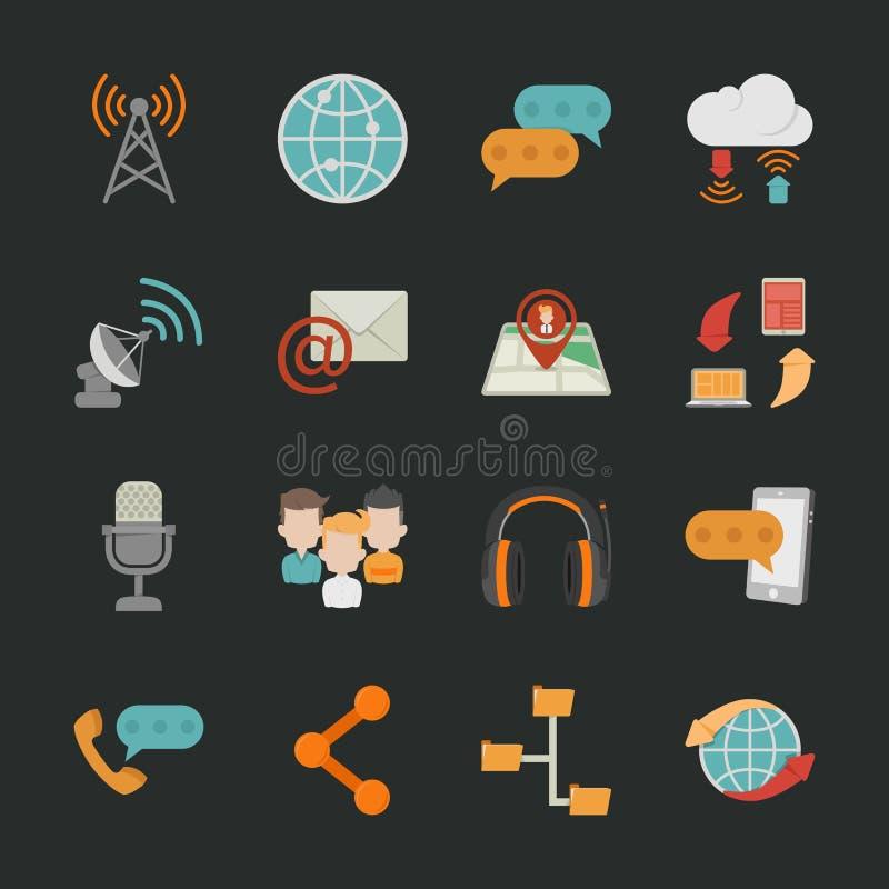 Free Communication Icons With Black Background Stock Image - 35801441