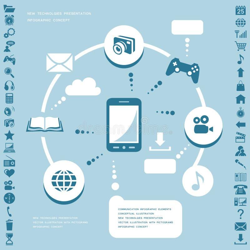 Communication infographic elements royalty free illustration