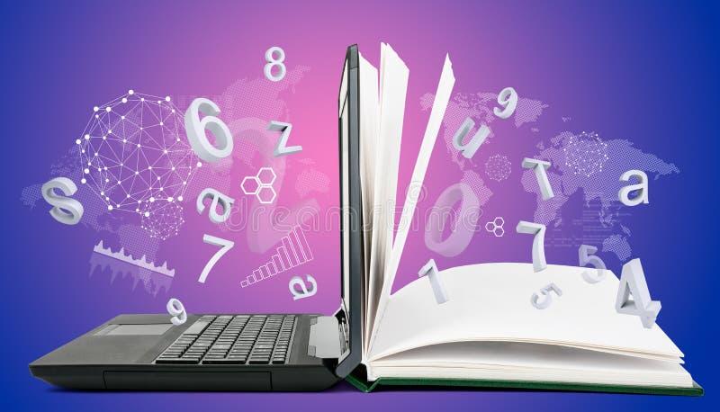 Communication informatique, apprentissage en ligne photos libres de droits