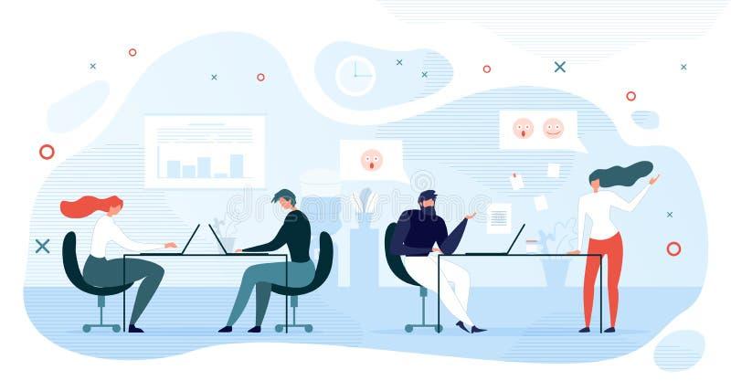 Communication informelle des employés dans le vecteur de bureau illustration libre de droits
