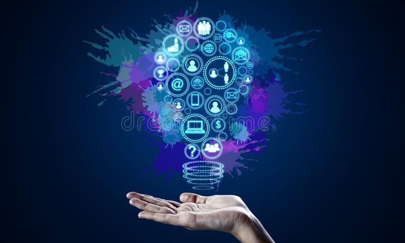 Communication and innovation concept stock images