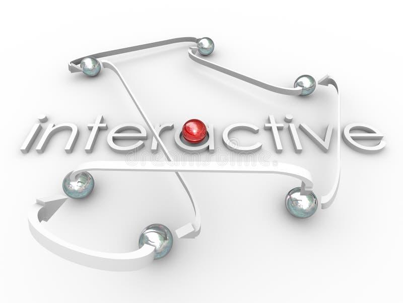 Communication interactive de Social de boules reliée par Word illustration stock