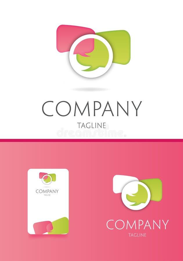 Communication logo royalty free illustration