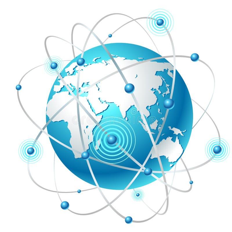 Download Communication map stock vector. Illustration of land - 16387082