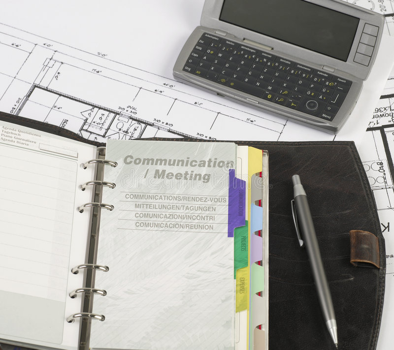 Communication meeting stock image