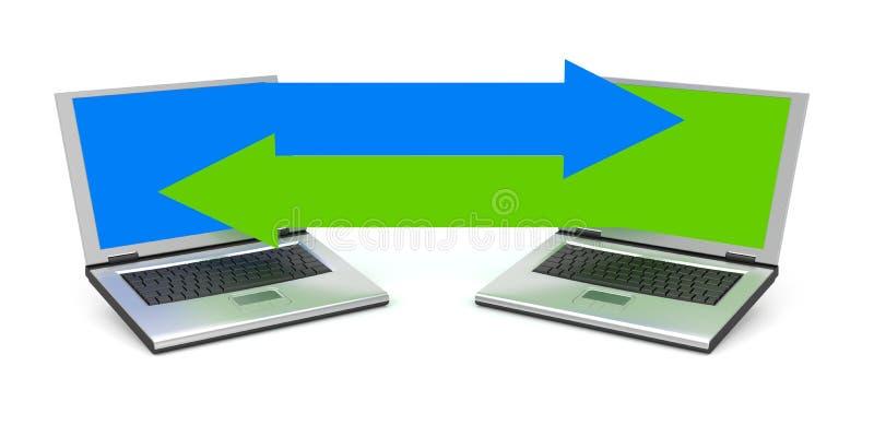 Download Communication metaphor stock illustration. Image of laptop - 20244930