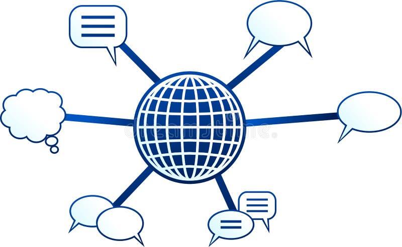 Communication molecule stock illustration