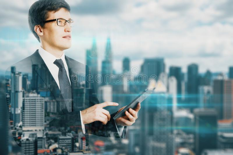 Communication and network concept stock image