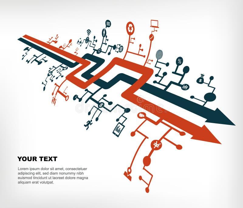 Communication network royalty free illustration