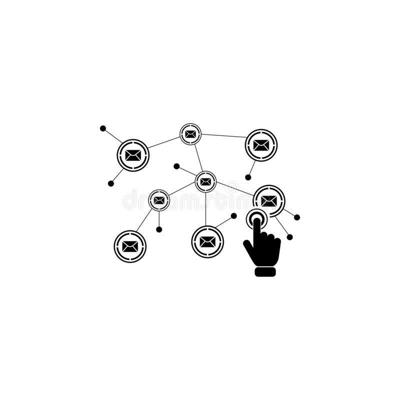 Communication network on touch screen icon. Element of touch screen technology icon. Premium quality graphic design icon. Signs an. D symbols collection icon for vector illustration
