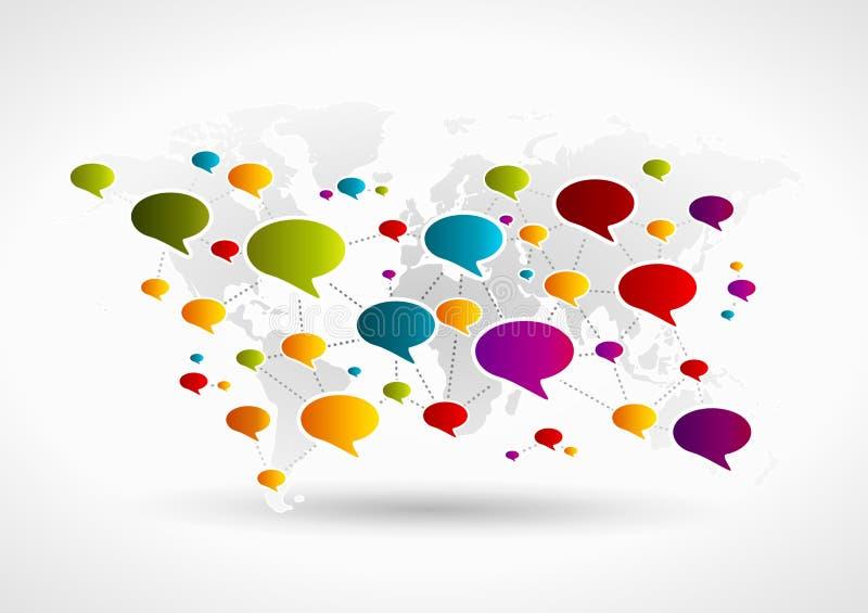 Communication network stock illustration